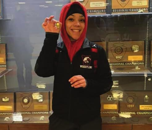 Shawn Johnson after qualifying for the state wrestling tournament. (Photo provided)